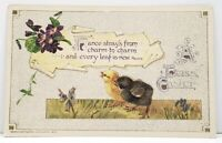 Winsch Easter Greeting France Strays from Charm to Charm 1913  Postcard G17