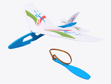 1 Set Rubber Band Hand-Launch Glider Blue TH028-018