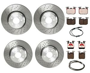 Brembo Front Rear Dimpled Brake Disc Rotors Ceramic Pads Kit for BMW F30 F32 F34
