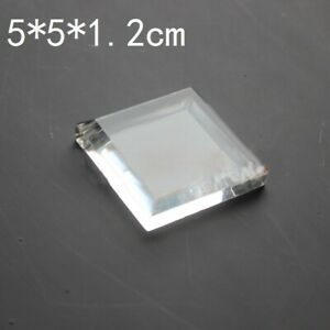 1PC Acrylic Display Stand Jewelry Toys Show Holder Home Decor Square Clear Small