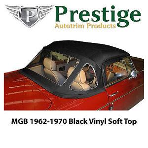 MGB/MGC Soft Tops Convertible Tops Black Vinyl 1962-1970