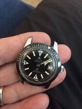 RARE Vtg. 1959 Diver Watch Ollech & Wajs OW Ref. 105 Black Dial NICE Running !