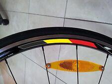 4x Belgium Rim Wheel Stripe Stickers Flag Bicycle for 700c Profile 24,35,50,75