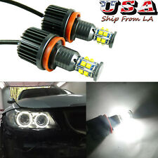 240W Cree White H8 LED Angel Eyes Halo Ring Marker Bulbs For 1 3 5 X Series E90