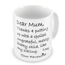 Lieb Mutter Danke 4 Setzen Up With Mein Sibling Lustige Neuheiten Geschenk Tasse