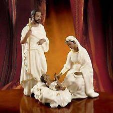 LENOX OH Holy Night Nativity ~ FAMILY Set ~ AFRICAN AMERICAN Ebony NIB