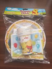 WINNIE THE POOH 40 PCE PARTY PACK Party Supplies Tableware Plates Birthday PP6