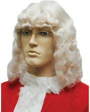 Morris Costumes Men's Superior Quality Kanekalon Santa Wig 004 White. LW195WT