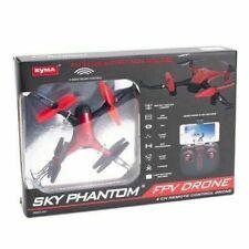 Syma Sky Phantom WiFi FPV Drone 2 Speeds App 4 CH Remote Control RED OPEN BOX