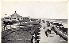 ABERDEEN SCOTLAND UK DANCE HALL & BEACH OLD CARS SILVERESQUE POSTCARD 1940s