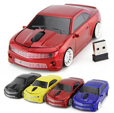 Wireless Super Sport CAR Gaming Mouse Optical LED Bluetooth USB Laptop PC Mice