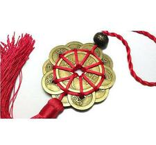 FENG SHUI FORTUNE COIN TASSEL RED Hanging Cure Fad Wealth Good Luck Prosperity L