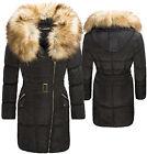 elegante donna cappotto invernale trapuntato giacca collo di pelliccia nero