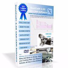 CAD-CAM Lathe Software RoutCad 25D 1-design part  2-define path  3-export g-code