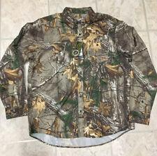 Under Armour Men's RealTree Xtra 1255090 Camo Long Sleeve Button XL Shirt
