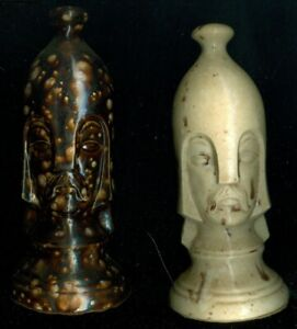 Duncan Mold Ceramic Chess Set Decorative Pieces 2-3/4 in base You Choose Wh/Brn