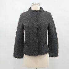 Eileen Fisher Cardigan Sweater PP Petite Gray Mohair Wool Cashmere NEW Mock Neck