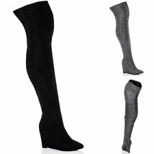 Unbranded Wedge Over Knee Women's Boots