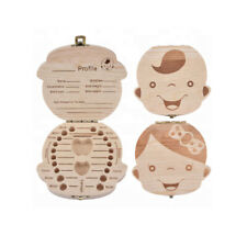 Baby Teeth Save Box Wooden Tooth Fairy Souvenir Boxes Tooth Caja guardar Dientes