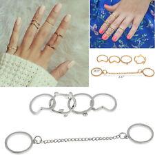 6 Set Ringe Knöchel Midi Fingerspitzenring Obergelenkring Strass Herz Nagel Ring