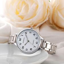 Luxury Women Ladies Watches Crystal Stainless Steel Analog Quartz Wrist Watch A