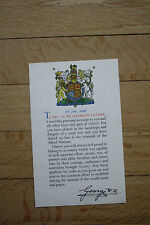 HOME FRONT KINGS MESSAGE TO SCHOOL CHILDREN  SCROLL TEACHER SCHOOL EDUCATION