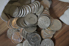 Survival Money 1964 Kennedy Half Dollar 90% Silver Circulated Mixed 50 Coins Lot