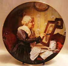 Grandma's Love Collectible Plate by Norman Rockwell Golden Moments Collectio