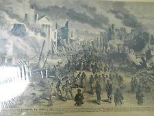 CIVIL WAR Newspaper Clipping FEDERAL ARMY ENTERS RICHMOND VA 12x17 p.? Sealed