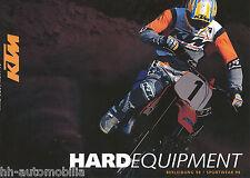 KTM Hard Equipment Prospekt 1998 D+GB brochure Broschüre Motorradprospekt Heft