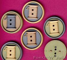 SPOOLS - Cotton Reels Sew Fun Collection Novelty Dress It Up Craft Buttons