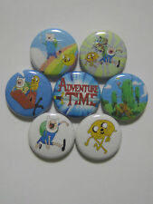 Adventure Time with Finn and Jake pins buttons badges set of 7