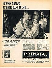 PUBLICITE ADVERTISING 044   1960   PRENANTAL     tout pour les futures mamans bé