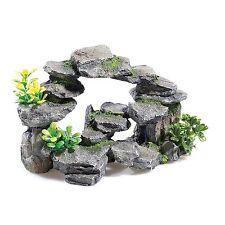 26cm Rock Arch con piante Classic Acquario Ornamento per acquari MS310