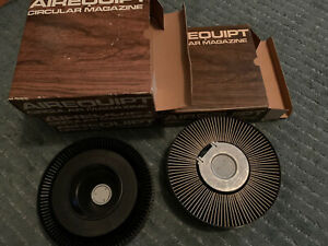 Airequipt Lot of 4 slide projector Carousel With Slides 1970's Vacation Etc