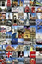 Londra: COLLAGE-MAXI POSTER 61cm x 91,5 cm (nuovo e sigillato)