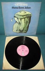 CAT STEVENS Mona Bone Jakon ORIG 1st UK PINK ISLAND 1970 + Lyric Inner