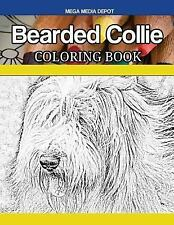 Bearded Collie Coloring Book, Paperback by Mega Media Depot (Cor), Brand New,.
