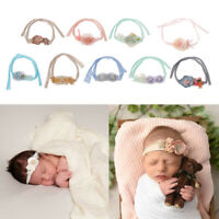 Newborn Photography Props Flower Headband Baby Girls Handmade Tieback Headwear