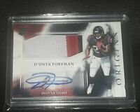 2017 Panini Origins D'Onta Foreman Texans Relic Patch Auto Sig RC