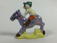 Vintage Porcelain Lusterware Horse Jockey Figurine Toothbrush Holder Toothpick