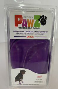 PawZ Color Dog Boots (Large) | Dog Paw Protection with Dog Rubber Booties | Dog