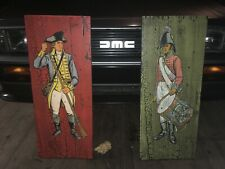 *Rare* Vintage George Nathan Colonial Soldier P12 & P13 Silkscreening Paintings!