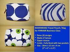 Marimekko Canvas Travel Pouch / Bag for FINNAIR ~new & authentic ~ BEST VALUE
