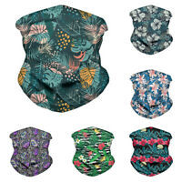 Mens Bandana Tube Head Scarf Neck Gaiter Women Face Shield Mouth Cover Outdoor