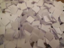 100 PAIRS x 16mm white Self Adhesive  Hook and Loop fastener Squares