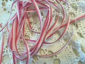"Vintage Embroidery Trim 1/8"" Flower Ribbon Ombre 1yd Made in France"
