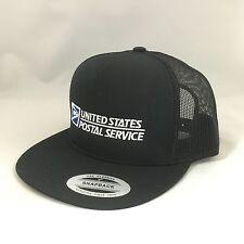 USPS Snapback Cap United States Postal Service Classic Mesh Trucker Hat Black