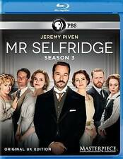 Masterpiece: Mr Selfridge - Season 3 (Blu-ray 2015, 3-Disc Set) Three UK Ed. PBS