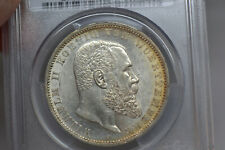 German States:  Wurttemberg: 1908-F 5 Mark- PCGS MS-62.  Lovely!